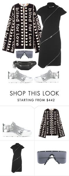 """Silver ruffle trainers!"" by kvogele on Polyvore featuring MSGM, Gucci, Courrèges and Porsche Design"