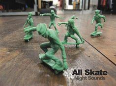 "All Skate - ""Night Sounds"" DJ Mix album art."