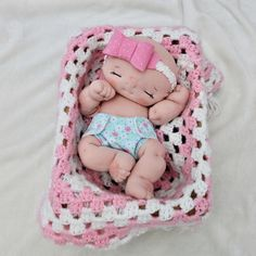Custom 13 in fully soft sculpted cloth baby doll by Aubrey Barbosa from La Chulona