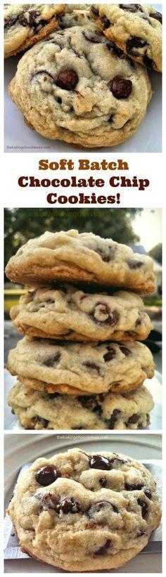 Soft Batch Chocolate Chip Cookies! Pure Nirvana! via @https://www.pinterest.com/BaknChocolaTess/
