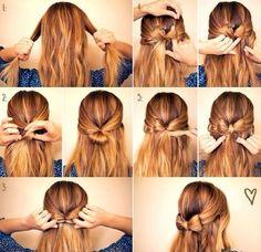 bow tutorial, hair tutorials, diy hair, diy crafts, diy art