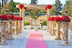 From floral arrangements among podiums to altar blooms, there are many beautiful ways that you can create your wedding ceremony space to become anything but ordinary.  We are ready to plan your big day: http://www.rosepetalevent.com/  . . .  #californiaplanner #wedding #weddingflowers #altar #losangeleswedding #losangelesplanner #aisle #flowers #ceremony #weddingceremony #rosepetalevents #roses #outdoorwedding #weddingplanning #weddingideas  Photo Source…