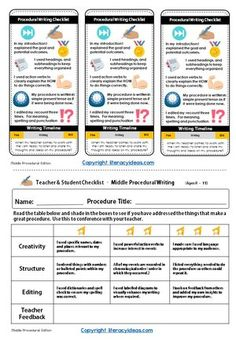 How to write a procedural text. Planning tools, video tutorials and writing prompts and teaching ideas for English teachers, students and parents. Teaching Science, Science Education, Science Experiments, Writing Genres, Writing Prompts, Writing Ideas, Lab Report Template, Writing Checklist, Procedural Writing