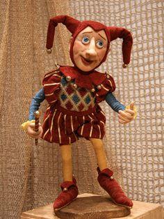 Кукла Шут - авторская кукла,шут,интерьерная кукла,ручная работа handmade