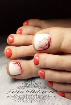 Top 30 Pedicure Nail Art Design That Are Easy Nail Art nail art for toes Pretty Toe Nails, Cute Toe Nails, Gorgeous Nails, Colorful Nail Designs, Toe Nail Designs, Pedicure Designs, Pedicure Ideas, Pedicure Nail Art, Toe Nail Art