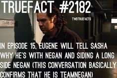He gets treated like he's actually somebody in the sanctuary, and gets treated like shit at Alexandria, I'm glad that this decision was made :') #TEAMNEGAN ! #TWD #TheWalkingDead #WalkingDead