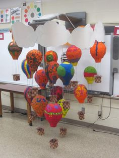 paper mache art projects for elementary students - use with Dr Seuss oh the places you'll go...(a book theme is cool)