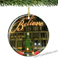 Macy's Believe Porcelain Christmas Ornament will take you back to your favorite NYC vacation memories. Enjoy for a lifetime! (http://www.nycwebstore.com/believe-porcelain-christmas-ornament/)