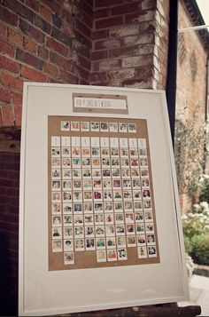 polaroid photo table plan shustoke farm barns summer wedding florist passion for flowers