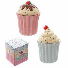 Cutesy Cupcake Ceramic Storage Jar in Decorative Gift Box