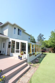 G. Christianson Construction built this deck space off the new sunroom for our clients.