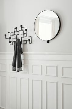 Kollage mirror and underground coat rack
