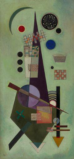 Vasily Kandinsky, Extended, May–June 1926. Oil on panel, 37 1/2 x 17 3/8 inches (95.3 x 44.2 cm)