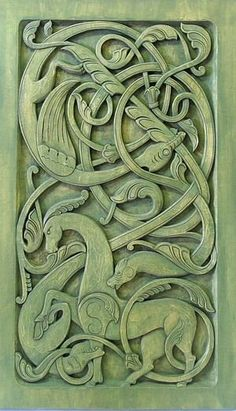 Celebrating my Irish Heritage - Celtic carving - - Holzkunst - Viking Designs, Celtic Designs, Celtic Symbols, Celtic Art, Celtic Dragon, Viking Dragon, Celtic Knots, Vikings Art, Motif Art Deco