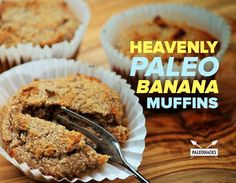These Paleo Banana Muffins are sweet, moist and incredibly scrumptious!