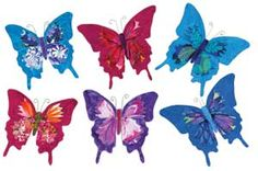 "BUTTERFLY ACCENTS PATTERN  So cheerful on your walls. Create three-dimensional butterflies using Kristine Poor's directions, your fabric scraps, and inn-spire Plus, a double-sided, fusible, nonwoven stabilizer. One package makes six butterflies 9"" wide. inn-spire Plus sold separately below."
