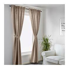 BLEKVIVA Curtains with tie-backs, 1 pair  - IKEA