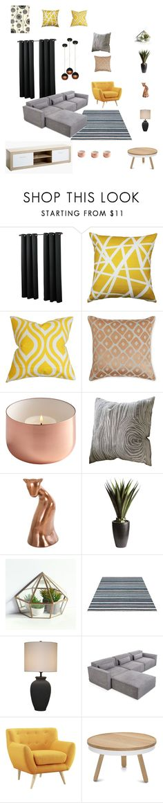 Bft-2355 by arvai-andrea on Polyvore featuring interior, interiors, interior design, home, home decor, interior decorating, Gus* Modern, Safavieh, Pier 1 Imports and Yves Delorme