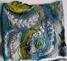 layer and stitch over handmade felt - beautiful (by jackie cardy of dog daisy chains)