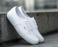 1e839ed5685 Vans Authentic True White Mens Womens Canvas Shoes Sneakers All Sizes