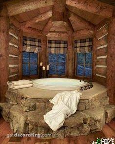 Log Home Bathroom!!