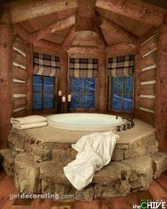 Log Home Bathroom!!