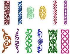<li>12 Celtic Borders Machine Embroidery Designs 5x7 hoop</li>