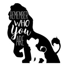 This Lion King themed Disney home decor features silhouettes of Simba and Mufasa. This design inclu Lion King Nursery, Lion King Simba, Gift Quotes, Wall Quotes, Citations Disney, Lion King Quotes, Image Svg, Le Roi Lion, Remember Who You Are