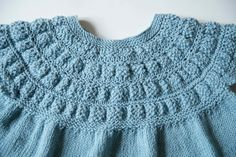Hand knitted cashmere and cotton swing jumper.