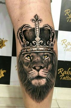 50 eye-catching lion tattoos that make you want ink - 50 eye-catching lions . - 50 eye-catching lion tattoos that make you want to use ink – 50 eye-catching lion tattoos that ma - Lion Leg Tattoo, Lion Tattoo With Crown, Lion Forearm Tattoos, Lion Tattoo Sleeves, Lion Head Tattoos, Mens Lion Tattoo, God Tattoos, Forarm Tattoos, Lion Tattoo Design