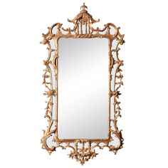 Chinese Chippendale Period Carved and Giltwood Mirror, English circa 1755 | From a unique collection of antique and modern wall mirrors