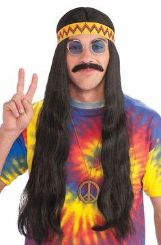 Subcultuur: de hippie een rustig persoon die rookt, en vrede zoekt.