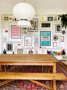 Home Design, Interior Design, Interior Ideas, Modern Interior, Gallery Wall Shelves, Gallery Walls, Kitchen Gallery Wall, Living Room Gallery Wall, Mens Room Decor