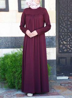 Azzah Jersey Abaya - Women's style: Patterns of sustainability Abaya Fashion, Modest Fashion, Fashion Dresses, Modest Dresses, Modest Outfits, Hijab Style Dress, Mode Abaya, Muslim Women Fashion, Abaya Designs
