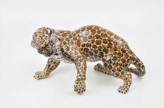 Nymphenburg German Porcelain Figurine Of A Jaguar.