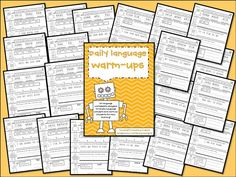 Daily Warm Ups for Math and Language! - Tunstall's Teaching Tidbits