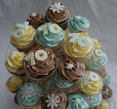 70th Birthday Cupcakes by There for the Baking, via Flickr