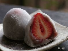 strawberries dipped in white chocolate and coated with powered sugar
