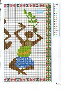 African Life, African Women, African Art, Butterfly Cross Stitch, Charts And Graphs, Stitch 2, African Design, Cross Stitching, Needlepoint