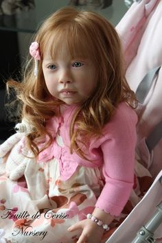 Syl Reborn Baby Girl Toddler Kit Chenoa by Jannie de Lange . Not much of an older doll fan but this one is precious.<3