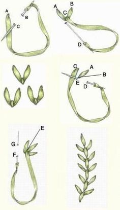 Wonderful Ribbon Embroidery Flowers by Hand Ideas. Enchanting Ribbon Embroidery Flowers by Hand Ideas. Embroidery Designs, Ribbon Embroidery Tutorial, Silk Ribbon Embroidery, Embroidery Stitches, Embroidery Patterns, Hand Embroidery, Embroidery Supplies, Embroidery Tattoo, Eyebrow Embroidery
