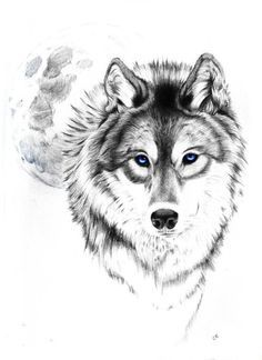 wolf tattoo black and white - Google Search