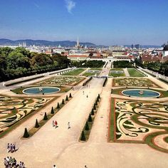 Belvedere Park in Vienna Austria
