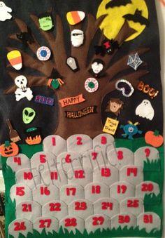 Handmade Felt Halloween Countdown Calendar PRE Order by felterrific, $60.00