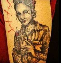 Pin up rockabilly tattoo