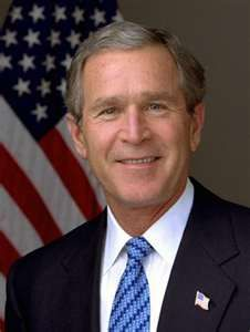 43rd President of the United States: George Walker Bush * Republican * Term: 2001 - 2008  * Born: July 6, 1946 in Midland, Texas * Vice President: Richard B. Cheney * First Lady: Laura Welch Bush * Children: Barbara and Jenna *