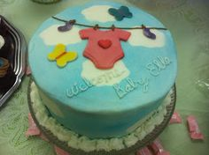 Stephanie's Scrapping Station: Baby Shower Cake