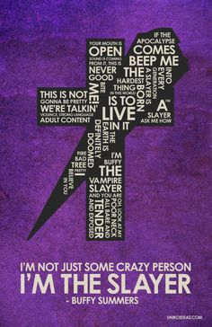 Buffy The Vampire Slayer Inspired Quote Poster 11 x by UnikoIdeas, $18.00