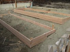 raise garden beds on a slope terraced