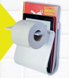 Read&Roll - Toilet paper roll, magazine , ipad,tablet pc holder